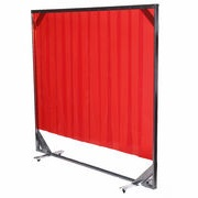 red welding screen curtain frame